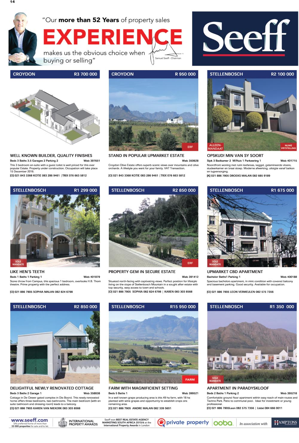 You are browsing images from the article: Property Selection 7thSeptember 2016